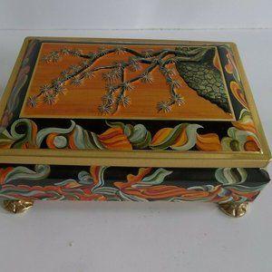 Vintage Tin Candy Box Fricke & Nacke Mavis Footed